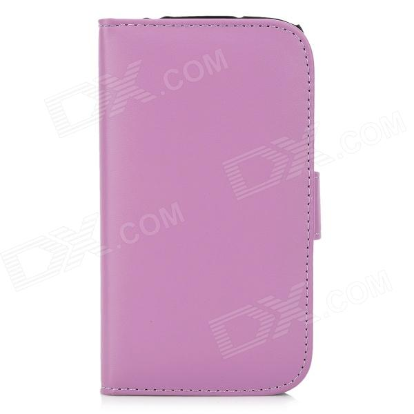 Protective PU Leather Flip Open Case w/ Card Slots for Samsung i9295 - Light Purple protective flip open pu case w stand card slots for samsung galaxy s4 active i9295 black