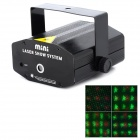 O-4D 4.5W Green + Red Light 2-Mode 4-Pattern Stage Laser Projector - Black