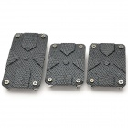 HT-7002-1 Universal Replacement Aluminum Alloy Car Anti-Slip Pedal Pads Set - Black + Grey