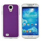 Protective Plastic Back Case for Samsung i9500 - Purple + White