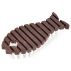 Fish Shaped Cleaning Brush - Deep Brown + White