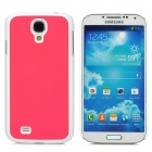 Protective Plastic Back Case for Samsung i9500 - Deep Pink + White
