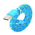 USB to Micro USB Data/Charging Woven Nylon Cable for Samsung / HTC / BlackBerry / Sony - Blue