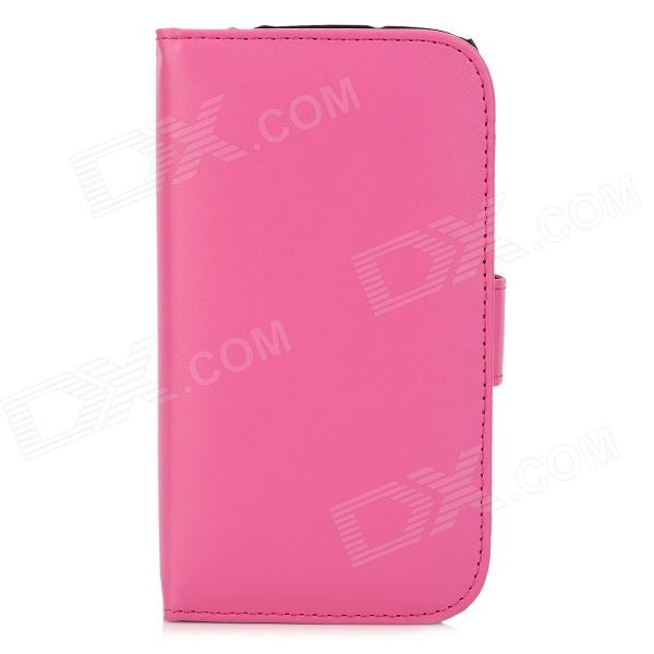 protective polka dot pu leather flip open case for samsung i9295 black pink Protective Flip Open Case for Samsung i9295 - Deep Pink