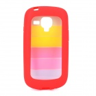 Rainbow Style Protective PC + TPU Back Case for Samsung Galaxy S3 Mini i1890 - Multicolor