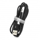 USB Male to Micro USB Male Charging + Data Transmission Cable - Black (100cm)
