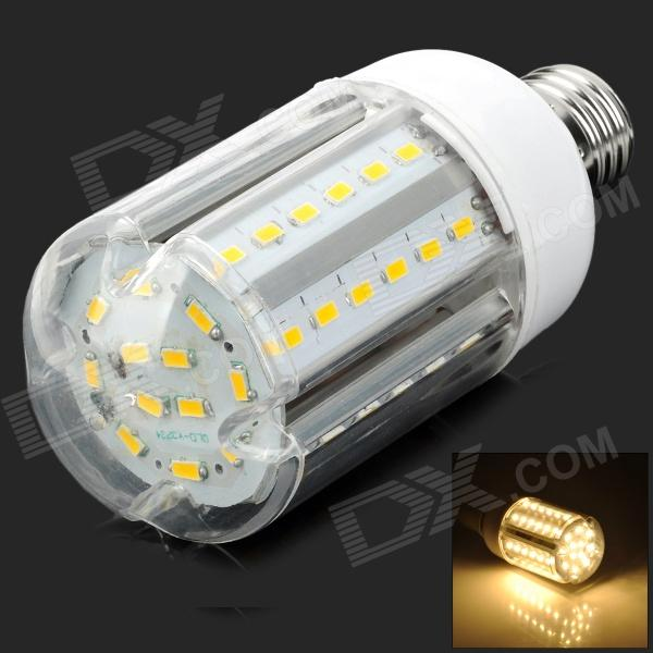 Y-E2760LED E27 15W 1500lm 3500K Warm White 60-SMD 5630 LED Light Bulb - White + Silver cawanerl car 5630 smd led bulb led kit package white truck dome map trunk license plate light for 2009 2016 dodge ram 1500