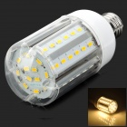 Y-E2760LED E27 15W 1500lm 3500K Warm White 60-SMD 5630 LED Light Bulb - White + Silver