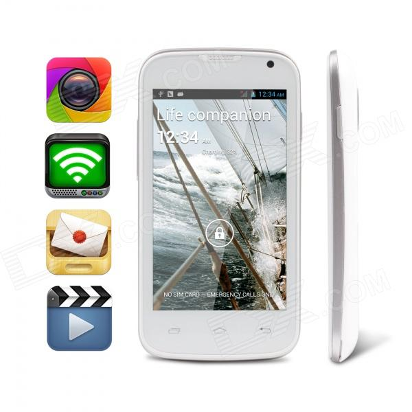 """MOCREO STAR 4.0"""" MTK6572 1.2GHz Dual Core Android 4.2 Smart Phone w/ Dual Camera / Wi-Fi"""
