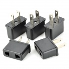 20111 Convenient US Plug to US / EU Socket Power Adapter (5PCS)