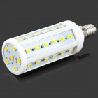 W-L42-8WYM E14 8W 900lm 3500K Warm White 42-SMD 5630 LED Light Bulb - White + Silver