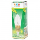 W-L42-8WYM E14 8W 900lm Warm White 42-LED Light Bulb - White + Silver