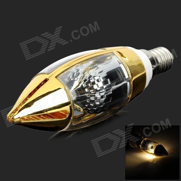 H6 Elegant E14 6W 230lm 3500K Warm White 12-SMD 5630 LED Candle Style Light Bulb - Golden