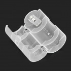 PP AA Battery to D Type Battery Conversion Case - Translucent