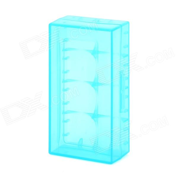 Protective PP Battery Storage Cases for LED Flashlight 18650 /16340 (CR123A) - Translucent Blue 100pcs18650 battery cell holder safety spacer radiating shell storage bracket mayitr suitable for 1x 18650 battery