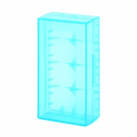 Protective PP Battery Storage Cases for LED Flashlight 18650 /16340 (CR123A) - Translucent Blue