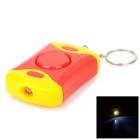 Personal Guard Safety Security Siren Alarm with LED Flashlight - Red + Yellow (3 x AG13)