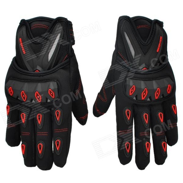 SCOYCO M10 Outdoor Motorcycle Men's Gloves - Black + Red (Size XL) увеличитель пениса developee
