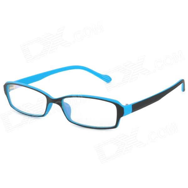 купить 2247 Anti-radiation PC Frame Resin Lens Eyeglasses - Black + Blue дешево