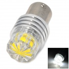 LX 1156 3W 300lm 6500K 1-LED White Light Car Brake Lamp - Silver + Yellow (Rated Voltage)