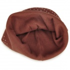 Little Bear and Bow Pattern Cotton Toddler's Hat - Coffee