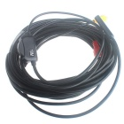 Waterproof AV CMOS Endoscope Camera w/ 4-LED - Black