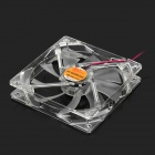 A057 Quiet PC Case Fan w/ LED 4-Color Light - Transparent