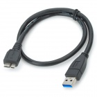 USB Type-A Male to Micro-B Male Data Connection Cable - Black (50cm)