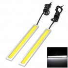 Waterproof 6W 350lm 60-COB LED White Car Daytime Running Lights (12V / 2 PCS)