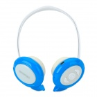 Qiyin BT-968 Stylish Stereo Bluetooth v3.0 + EDR Headphones w/ Microphone - White + Blue