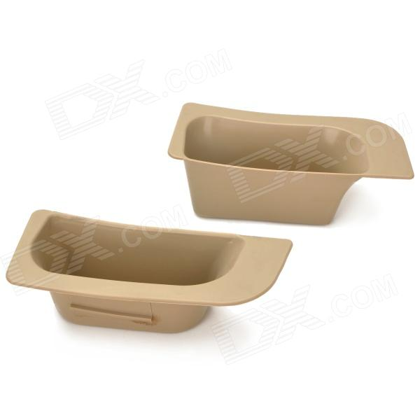 Car Door Armrest Storage Boxes for Ford Focus 2009~2012 - Khaki (Pair)