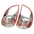 ABS Car Front Foglight Lampshade Frames for Chevrolet New Sail - Silver (Pair)
