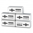 Nail Art Care Buffering / Shining / Polishing Sanding Blocks - White + Grey (5 PCS)
