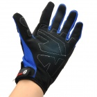 SCOYCO MC09 Outdoor Motorcycle Gloves - Black + Blue (Size L)