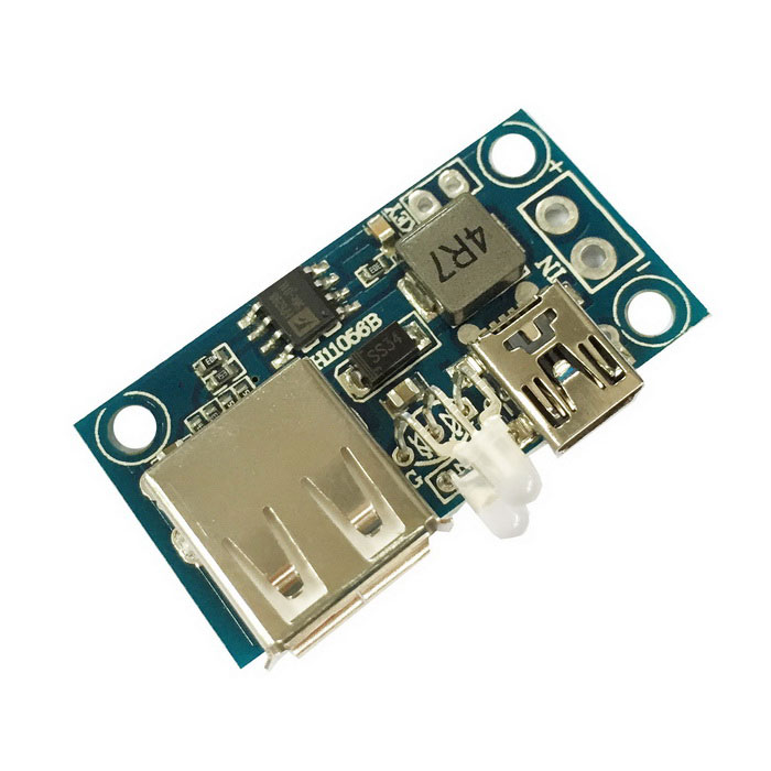 2.6-5.5V to 3~12V Voltage Boost Mobile Power Module - Blue (3A)