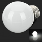 E27 1.5W 120lm 6000K White 1-3528 LED Light Bulb - White + Silver (AC 220V)