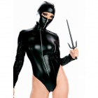 Toxic Hooded Ninja Teddy Female Costume - Black (Size-L)