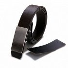Universal Models Smooth Flat Mouth Urban Fashion Belt - Black