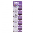 TIANQIU CR1216 3V Lithium Cell Button Battery - Silver (5-Piece Pack)