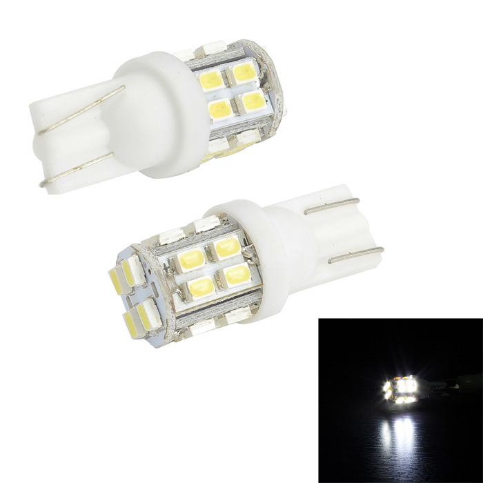 Merdia T10 3W 150lm 20-SMD 1206 LED White Light Canbus Car License Plate Light - (2 PCS / 12V) 2x canbus 3528smd led license plate light number plate lamp car light bulbs for opel vectra c estate 2002 2008 car light source