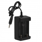 SingFire Double Slots Intelligent Rapid AC Power EU Plug Adapter for 18650 /26650 - Black