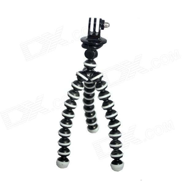 Fat Cat M-MO Mini Octopus Tripod for Gopro Hero 4/ 3+/3/2/1 / SJ4000 - Black + White цена и фото