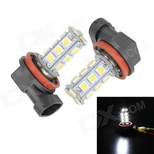 Merdia H11 3W 150lm 18-SMD 5050 LED White Light Canbus Car Light - (2 PCS / 12V)