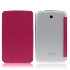ENKAY ENK-7036 PU Leather Case Cover for Samsung Galaxy Tab 3 7.0 T210 / T211 / P3200 - Deep Pink