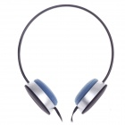 Sibyi X1 Stylish Stereo Headphones w/ Mic - Black + Silver + Blue (3.5mm Plug / 120cm-Cable)