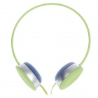 Sibyi X1 Stylish Stereo Headphones w/ Mic - Green + Silver + Blue (3.5mm Plug / 120cm-Cable)
