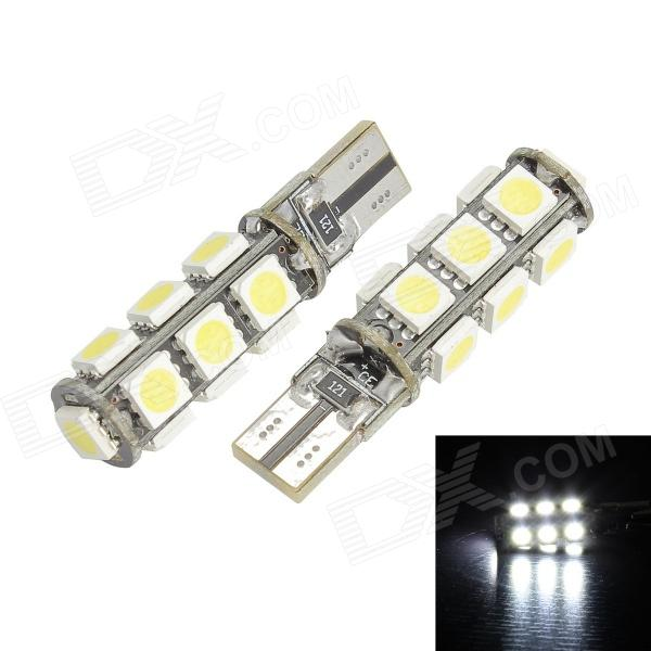 Merdia T10 400lm 13-SMD 5050 LED White Light Decoded Car Foglight - (2 PCS / 12V) wf90053522 highlight 9005 3w 210lm 1 smd led white light car foglight dc 12v