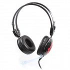 Jeway JH-2191 Music Gaming Stereo Headphones w/ Microphone - Black + Red (3.5mm Plug / 180cm-Cable)