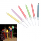 SYVIO Colored Flame Candles for Romantic Birthday Party - Multicolored (6 PCS)