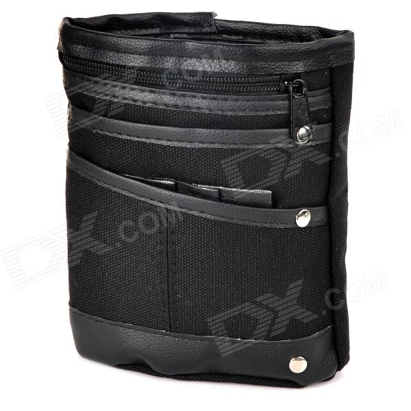 FBXYB-1 Men's Casual Canvas Waist Bag - Black